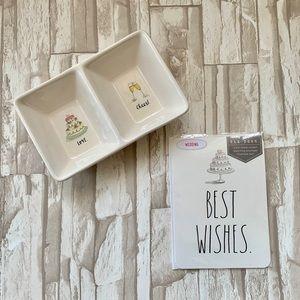 Rae Dunn Wedding Card and Trinket Dish